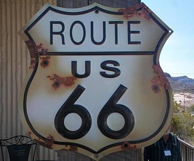 Route 66 Sign Poster by Randall Weidner