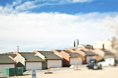Rows Of Duplex Garages Poster by Eddy Joaquim
