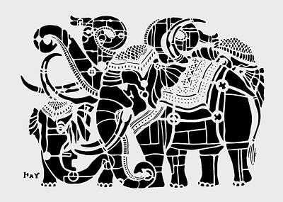 Royal Elephant Family Poster by Hay Chhoem