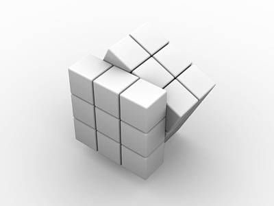 Rubik's Cube, Artwork Poster by Pasieka