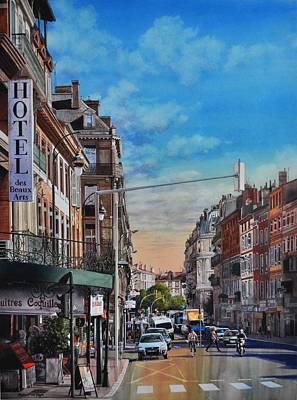 Rue De Metz In Toulouse Poster