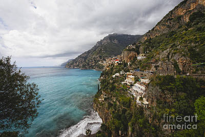 Rugged Amalfi Coastline Poster by George Oze