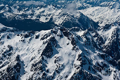 Rugged Olympic Mountains Poster by Mike Reid