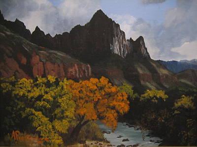 Rugged Peaks Poster by Barbara Prestridge