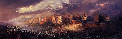 Ruins Of Jerusalem Poster by David Cheung