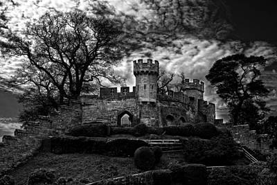Ruins Of Warwick In Black And White Poster