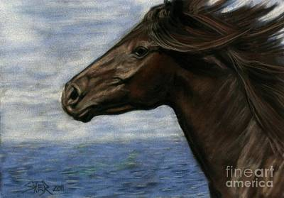 Poster featuring the painting Run Free by Sheri Gordon