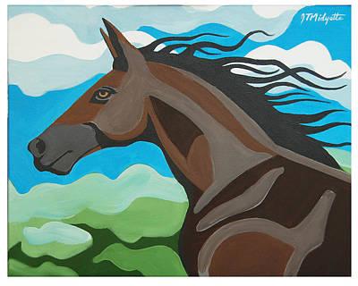 Running Horse Poster