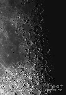 Rupes Recta Ridge And Craters Pitatus Poster by Phillip Jones