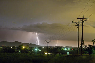 Rural Lightning Striking Poster by James BO  Insogna