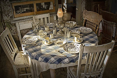 Rural Table Setting For Four No.3121 Poster by Randall Nyhof