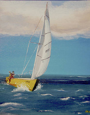 Poster featuring the painting Rush To Shore by Anthony Ross