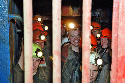 Russian Miners Poster by Ria Novosti