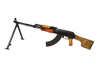 Russian Rpk 7.62mm Light Machine Gun Poster
