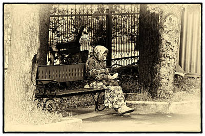 Poster featuring the photograph Russian Woman In Park by Rick Bragan