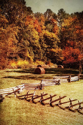 Rustic Pasture In The Smokies Poster by Mary Timman