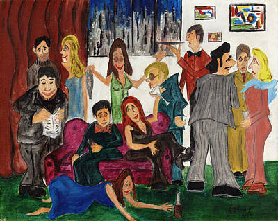 Poster featuring the painting Ruthys Party by Stuart B Yaeger