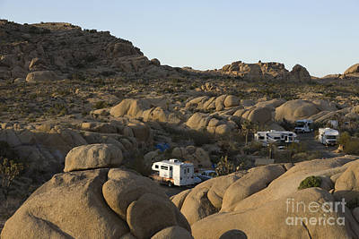 Rv Camping In The High Desert Poster by Roberto Westbrook