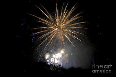 Poster featuring the photograph Rvr Fireworks 1 by Mark Dodd
