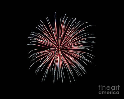 Poster featuring the photograph Rvr Fireworks 12 by Mark Dodd