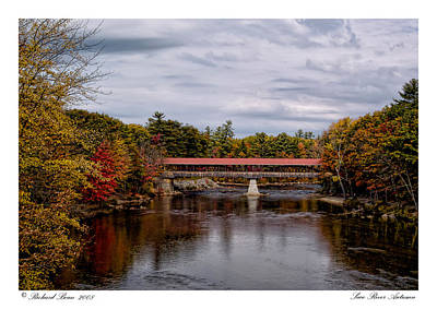 Poster featuring the photograph Saco River Autumn by Richard Bean