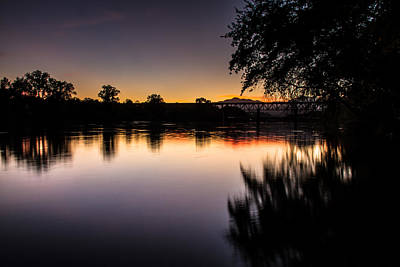 Poster featuring the photograph Sacramento River Sunset by Randy Wood