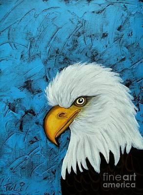 Sacred Bald Eagle Poster by Claudia Tuli