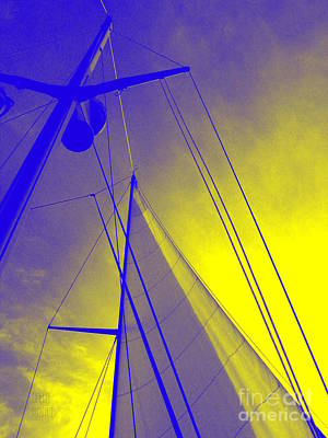 Sail Into Yellow Poster