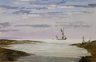 Poster featuring the painting Sail On By by Rob Hemphill