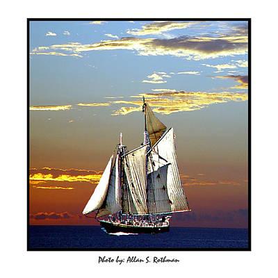 Sailbat At Dusk Poster