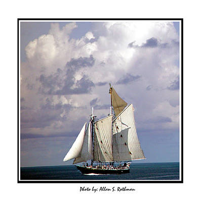 Sailboat Clouds Poster