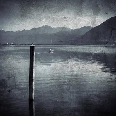 Sailboat On Lake Maggiore Poster by Joana Kruse