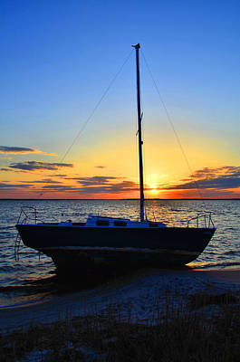 Sailboats And Sunsets Poster