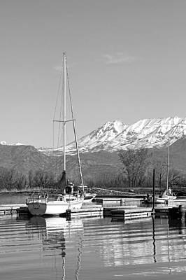 Sailboats At Utah Lake State Park Poster by Tracie Kaska