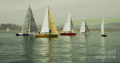 Poster featuring the photograph Sailing Day Regatta by Julie Lueders