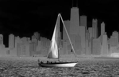 Sailing In Lake Michigan Poster