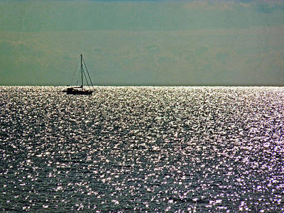 Poster featuring the photograph Sailing On A Sea Of Diamonds by William Fields