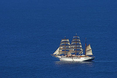 Poster featuring the photograph Sailing Ship- St Lucia by Chester Williams