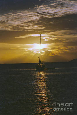 Sailing Sunset Poster by William Norton