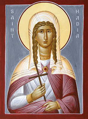 Saint Nadia - Hope Poster by Julia Bridget Hayes