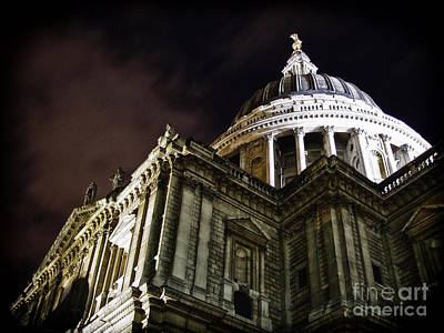Saint Paul's Cathedral At Night Poster by Thanh Tran