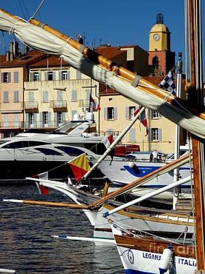 Saint Tropez Harbor Poster by Lainie Wrightson