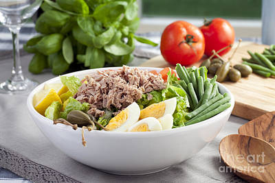 Salad Nicoise Poster by Charlotte Lake