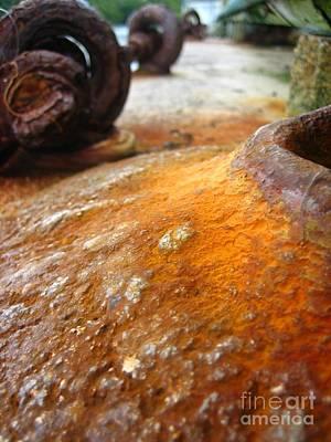 Poster featuring the photograph Salt Water Rust by Joe Finney