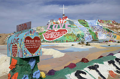 Salvation Mountain California 2 Poster by Bob Christopher