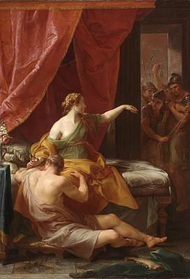 Samson And Delilah Poster by Pompeo Girolamo Batoni