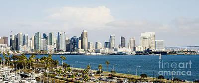 San Diego Bay Skyline Poster by MaryJane Armstrong