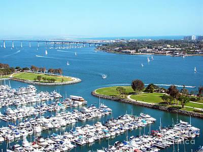 San Diego Marina And Bay Poster