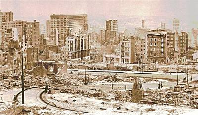 San Francisco After The 1906 Earthquake Poster