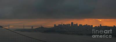 San Francisco At Dawn Poster by Matt Tilghman